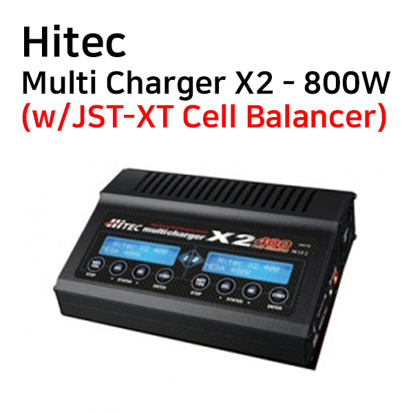 [Hitec] Multi Charger X2 - 800W(w/JST-XT Cell Balancer)