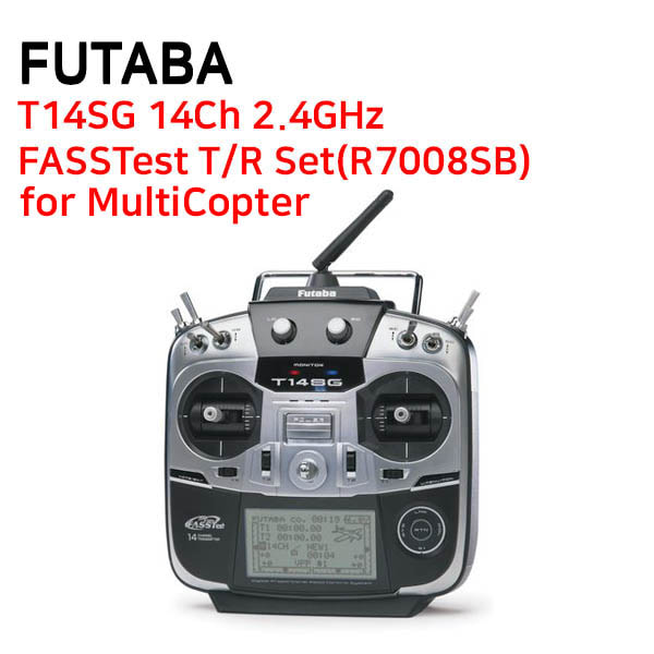 [FUTABA] 후타바조종기 T14SG 14Ch 2.4GHz FASSTest T/R Set(R7008SB) - for MultiCopter